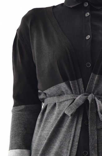 Knitwear Seasonal Cardigan 7148-02 Black Gray 7148-02