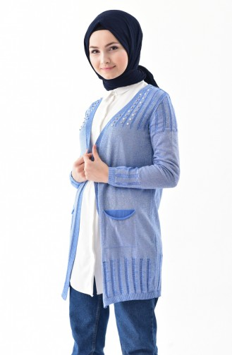 eae90a08e877f Mavi Hırka Modelleri ve Fiyatları - Tesettür Giyim - Sefamerve