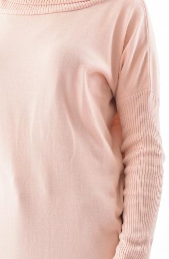بلوز تريكو بتصميم ياقة بولو  5162-03 لون وردي 5162-03