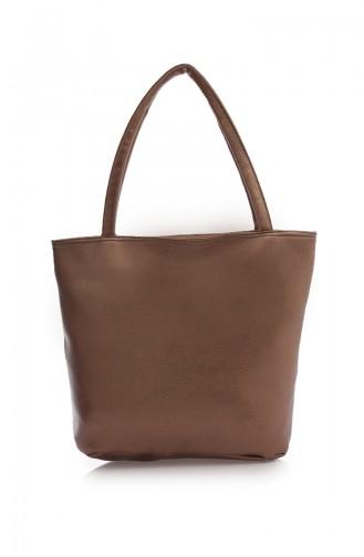 Stilgo Women´s Shoulder Bag with Wallet Ak02Z-12 Copper Skin coloured 02Z-12