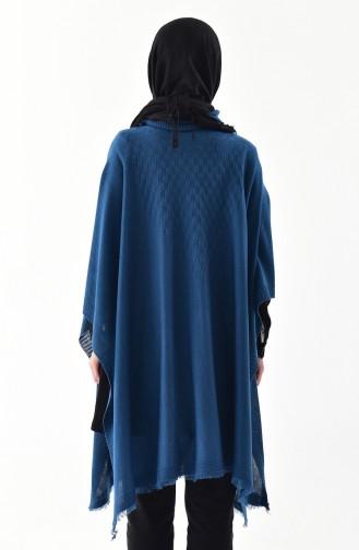 Knitwear Poncho 2109-07 Indigo 2109-07