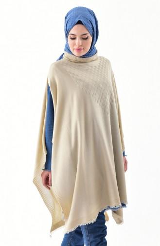 Knitwear Poncho 2109-08 Beige 2109-08