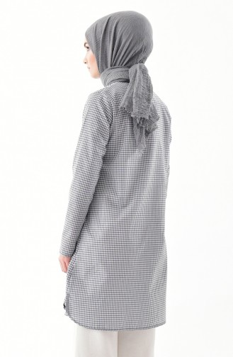 TUBANUR Stand Up Collar Tunic 3072-07 Gray 3072-07