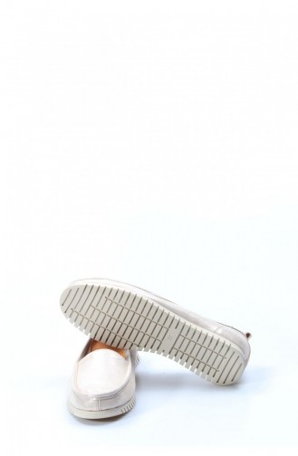 Beige Woman Flat Shoe 863ZA520-16781632