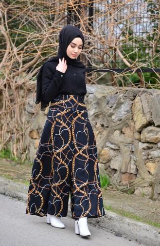 Viscose Pants Skirt 8110-01 Black 8110-01