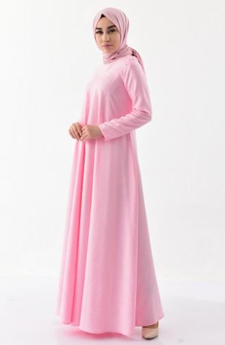 5e00357d5a538 Pembe Tesettür Elbise Modelleri ve Fiyatları - Tesettür Giyim ...