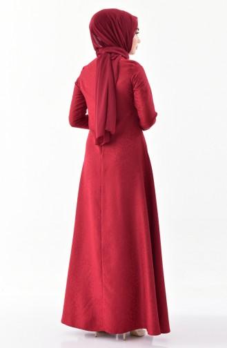 توبانور فستان بتصميم جاكار 3068-08 لون خمري 3068-08