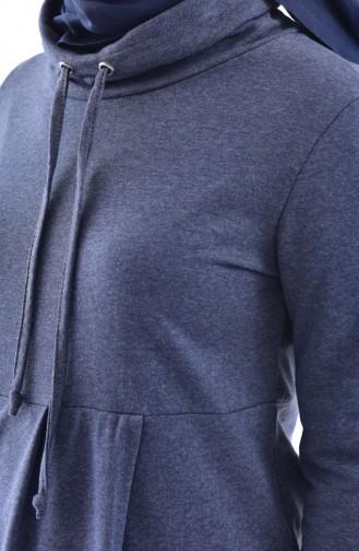 توبانور تونيك رياضي بتصميم ياقة بولو 3070-03 لون نيلي 3070-03