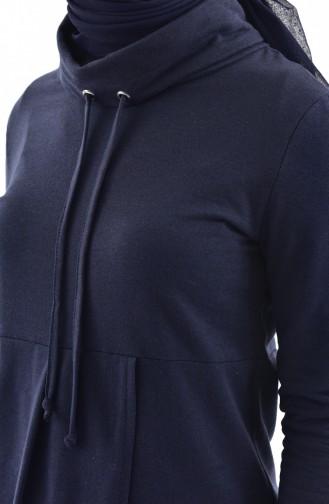 توبانور تونيك رياضي بتصميم ياقة بولو 3070-08 لون كحلي 3070-08