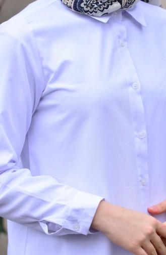 Minahill Slit Tunic 8209-02 White 8209-02