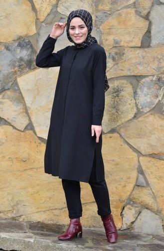 Yırtmaçlı Tunik 8209-04 Siyah