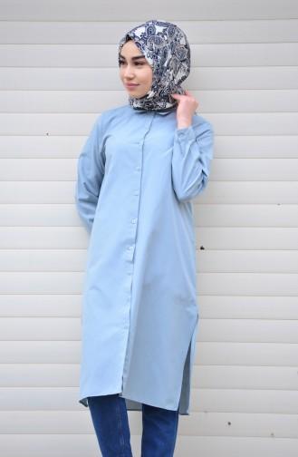 Minahill Slit Tunic 8209-05 Gray Blue 8209-05