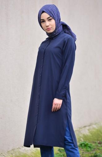 Minahill Slit Tunic 8209-07 Navy Blue 8209-07