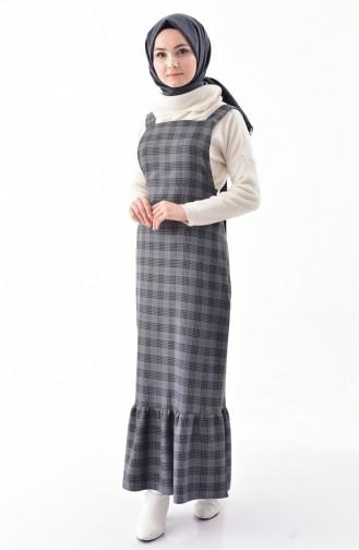 RITA Plaid Patterned Gilet Dress 60724-04 Gray 60724-04
