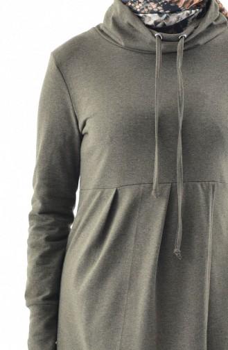 TUBANUR Polo-neck Sport Tunic 3070-06 Khaki 3070-06