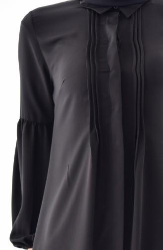 Nervürlü Uzun Tunik 1127-01 Siyah 1127-01