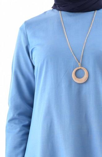 Tunique avec Collier 8210-04 Bleu Jaune 8210-04