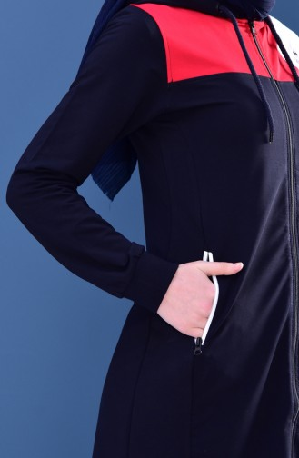 Zippered Tracksuit Suit 95171-02 Navy Blue 95171-02