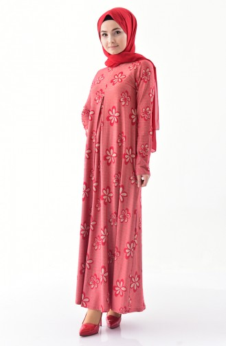 Dilber Flowering A Pile Dress 9041-01 Red 9041-01