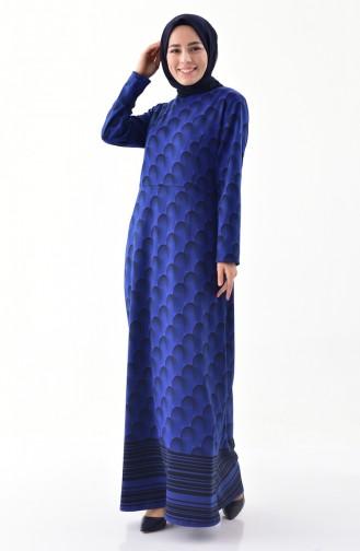 دلبر فستان بتصميم مُخطط 9045-01 لون ازرق 9045-01