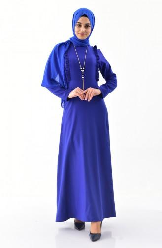 Saxon blue İslamitische Jurk 4518-02