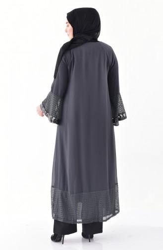 Large Size Garment Abaya 1059-01 Smoked 1059-01