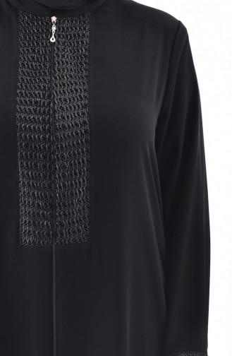 Large Size Garment Abaya 2519-02 Black 2519-02