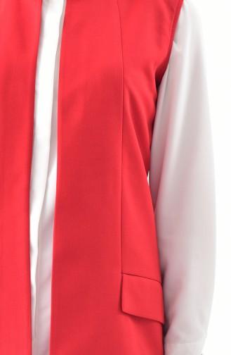Weste mit Tasche 1047-09 Rot 1047-09
