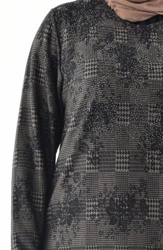 Mink Hijab Dress 4883A-03
