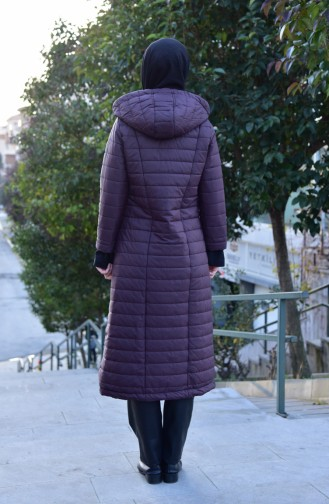 SUKRAN Hooded Quilted Coat 35780-03 Purple 35780-03