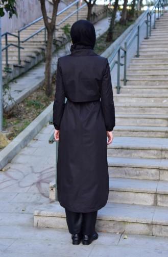 Manteau a Fermeture 35777-05 Noir 35777-05