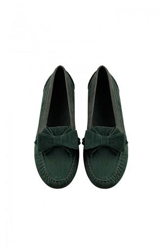 حذاء مسطح أخضر حشيشي 0104-07