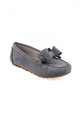 Velvet Flat Shoe 0104-08 Gray 0104-08