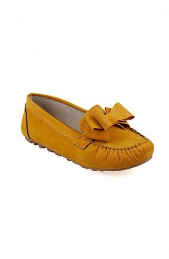 حذاء مسطح أصفر 0104-11