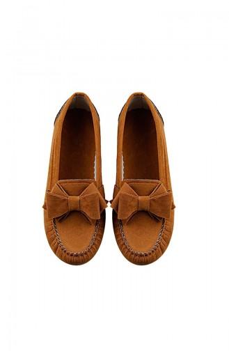 حذاء مسطح أصفر خردل 0104-12