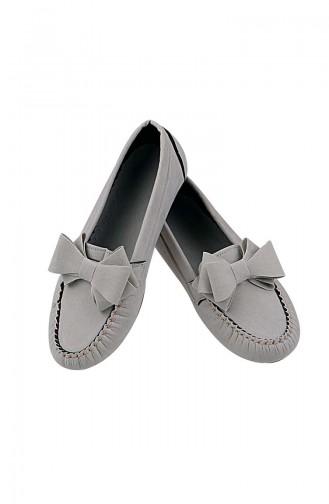 Velvet Flat Shoe 0104-13 Stone 0104-13