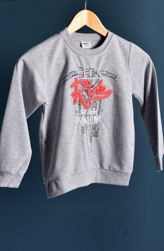 Gray Baby and Kids Sweatshirt 109-5