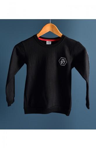 Schwarz Kinder und Baby -Sweatshirt 110-1