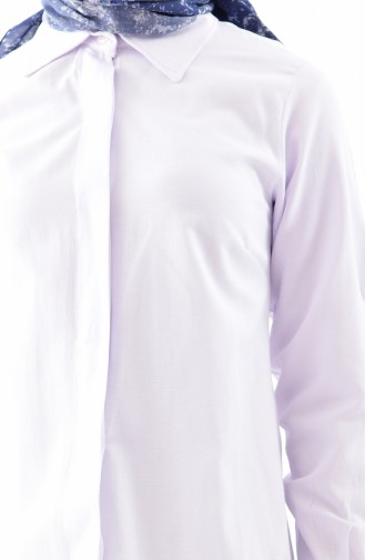 White Overhemdblouse 0694-04