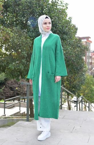 Tricot Pocket Cardigan 8011-02 Emerald Green 8011-02