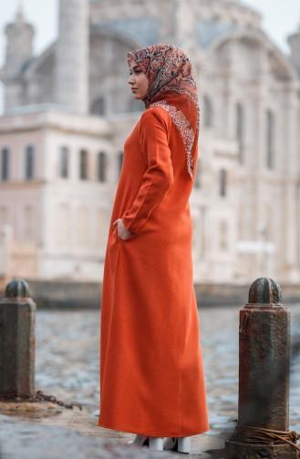Abaya Hivernal a Fermeture 1005-03 Brique 1005-03