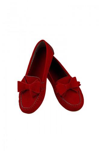 Velvet Flat Shoe  0104-09 Red 0104-09