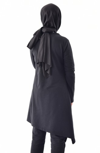 TUBANUR Asymmetric Tunic 3065-06 Black 3065-06