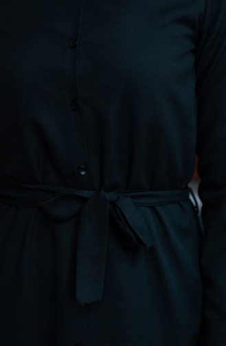 Buttoned Belted Tunic 8206-06 Black 8206-06
