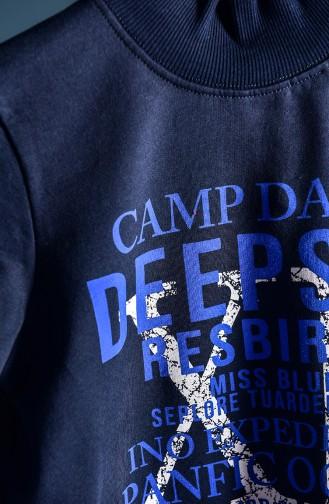 Dunkelblau Kinder und Baby -Sweatshirt 104-1