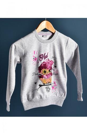 Gray Baby and Kids Sweatshirt 121-1