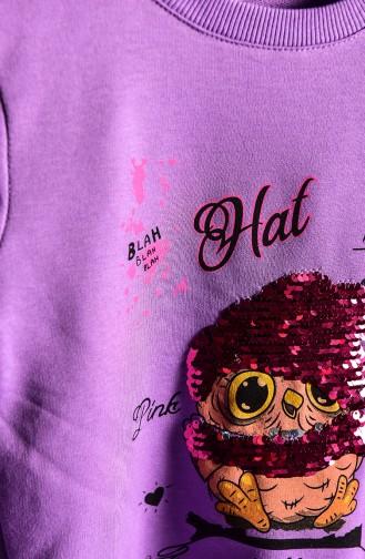 Purple Baby and Kids Sweatshirt 121-2