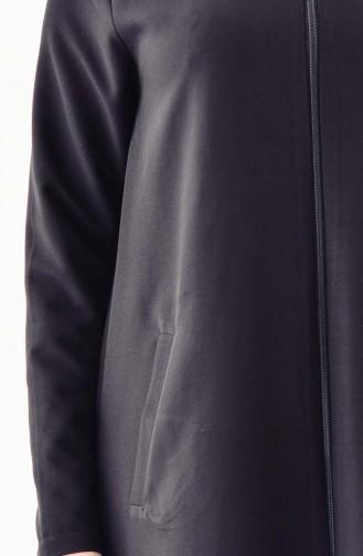 Abaya a Fermeture 2047-03 Noir 2047-03