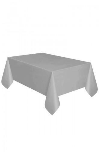 Plastik Masa Örtüsü TM-DGR-0725 Gümüş