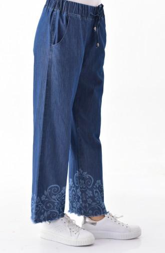 Pantalon Bleu Marine 8067-01